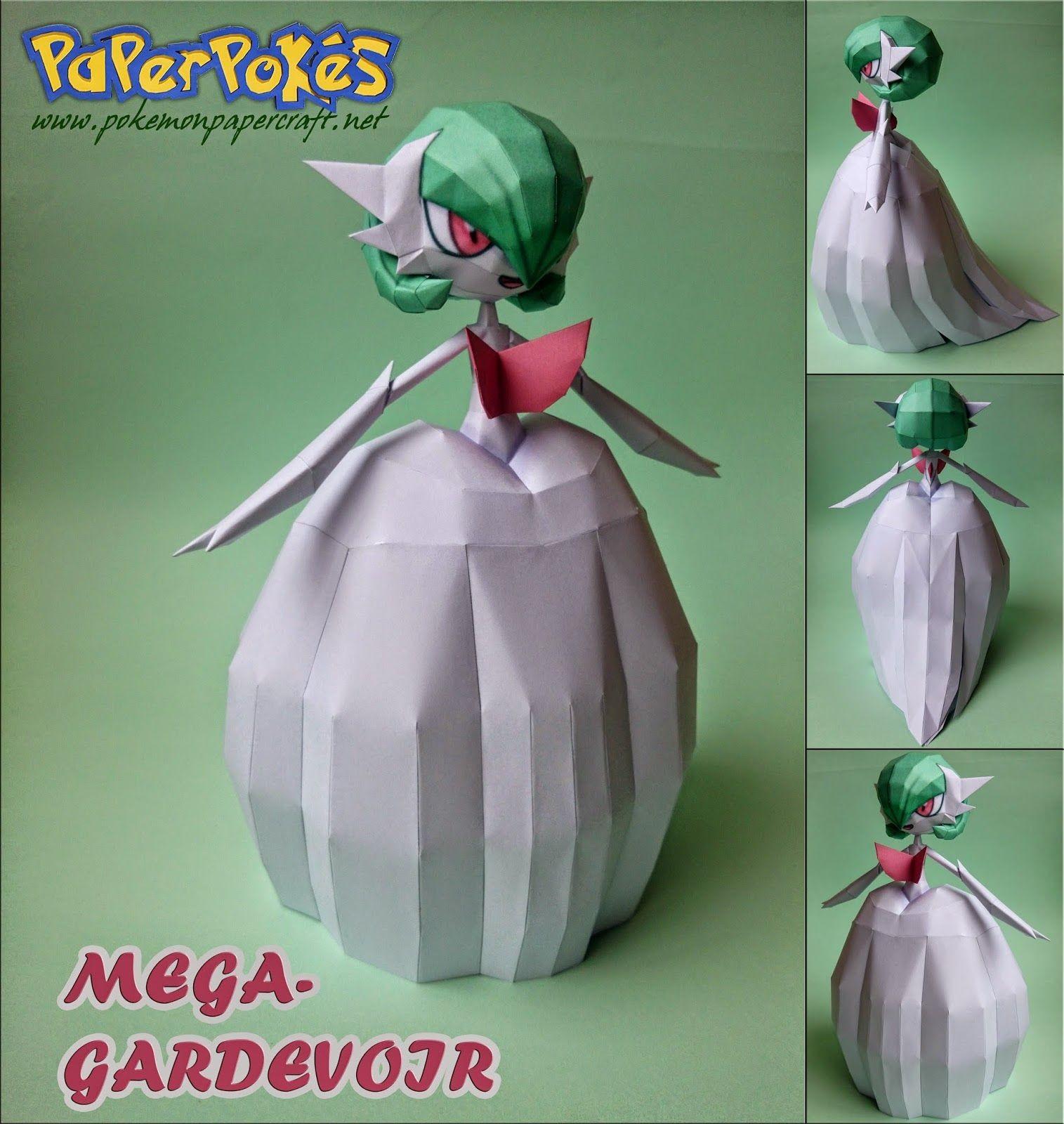 3d Model to Papercraft Paperpokés Pokémon Papercrafts Mega Gardevoir