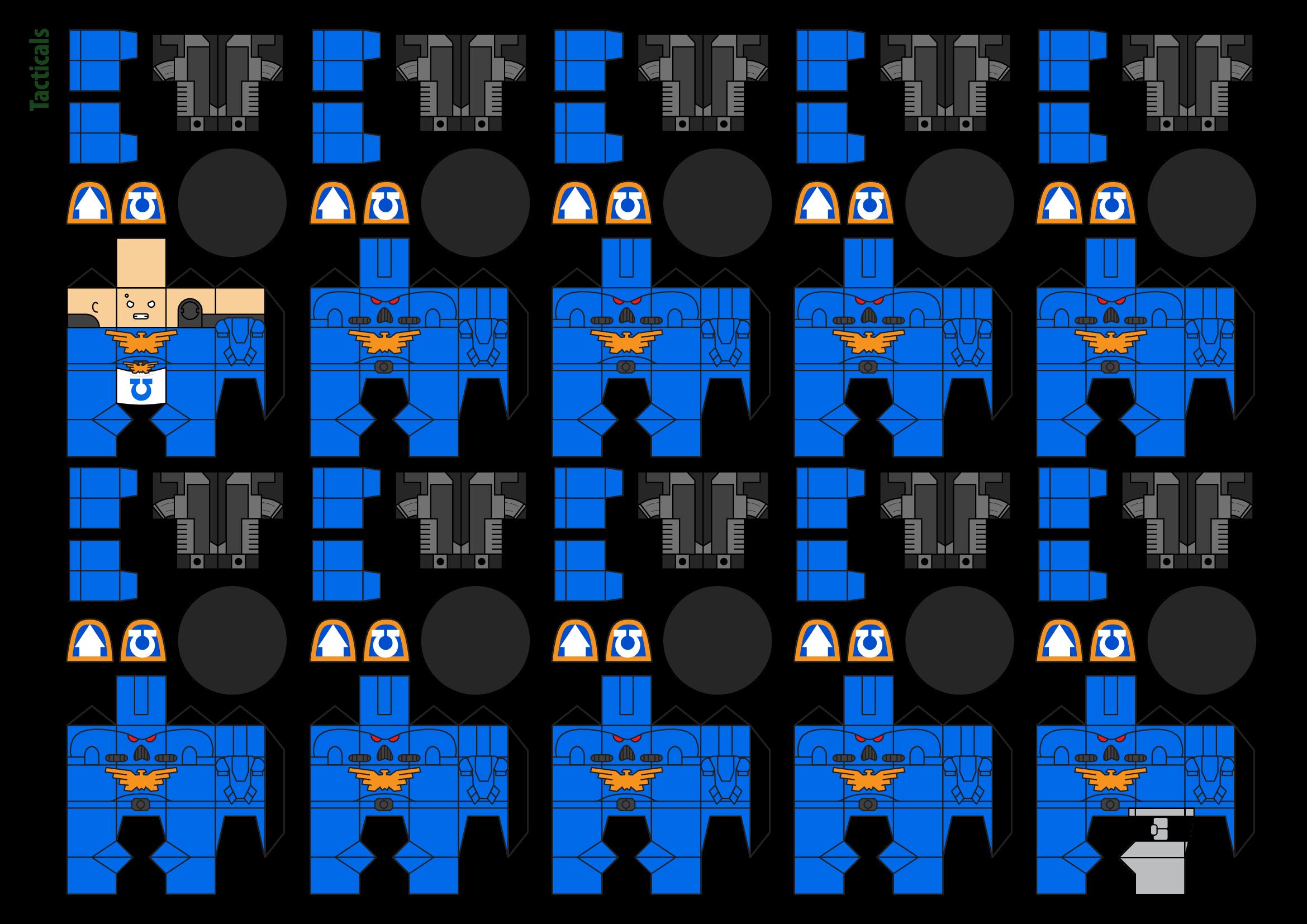 Papercraft Warhammer 40K Space Marine 1
