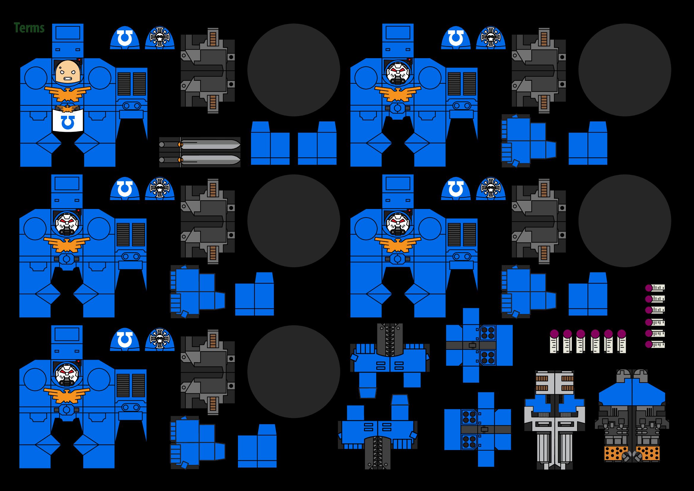 Papercraft Warhammer 40K Space Marine 2