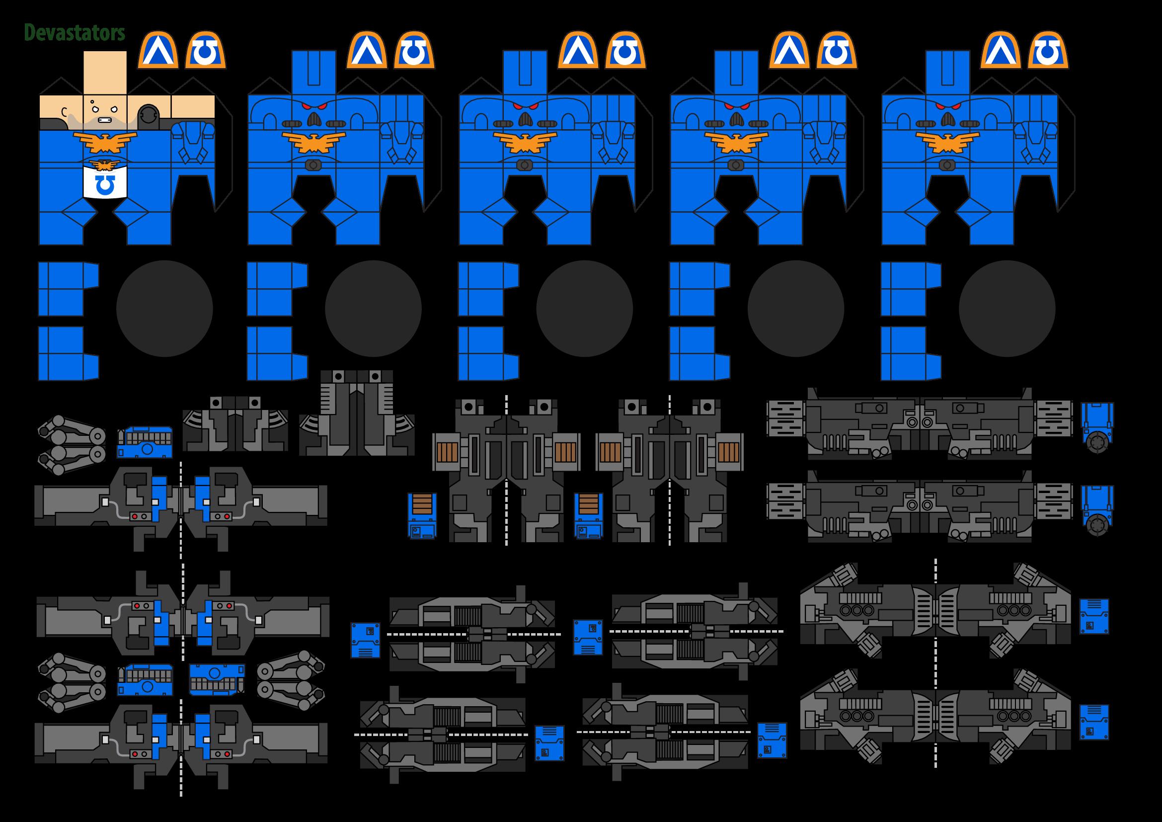 Papercraft Warhammer 40K Space Marine 4