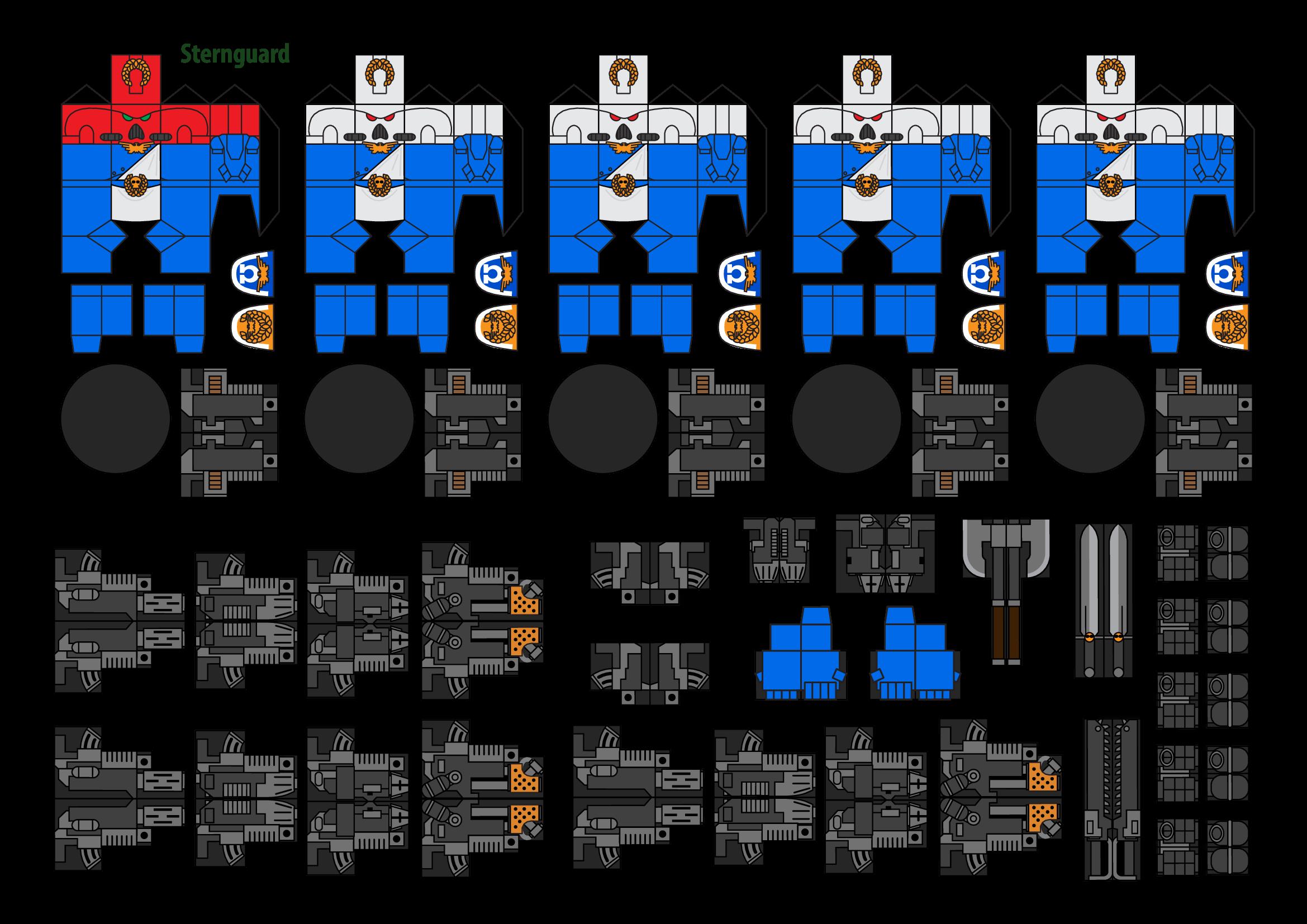 Papercraft Warhammer 40K Space Marine 6