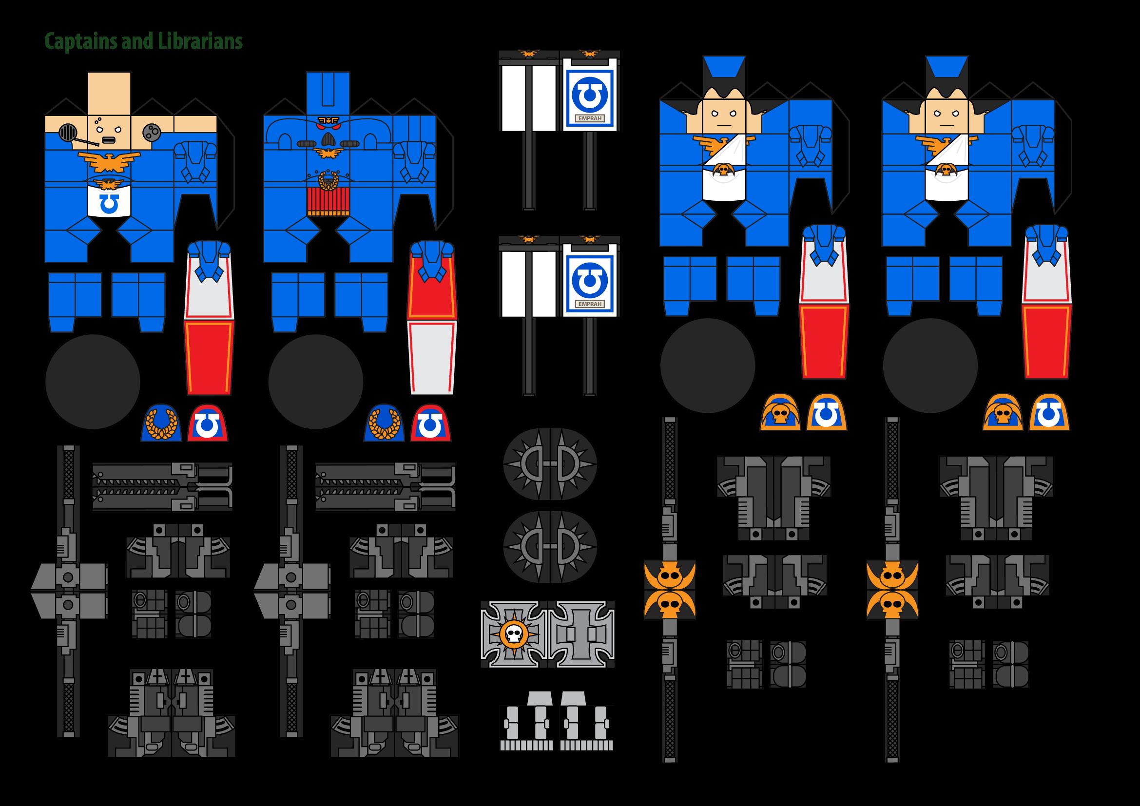 Papercraft Warhammer 40K Space Marine 8