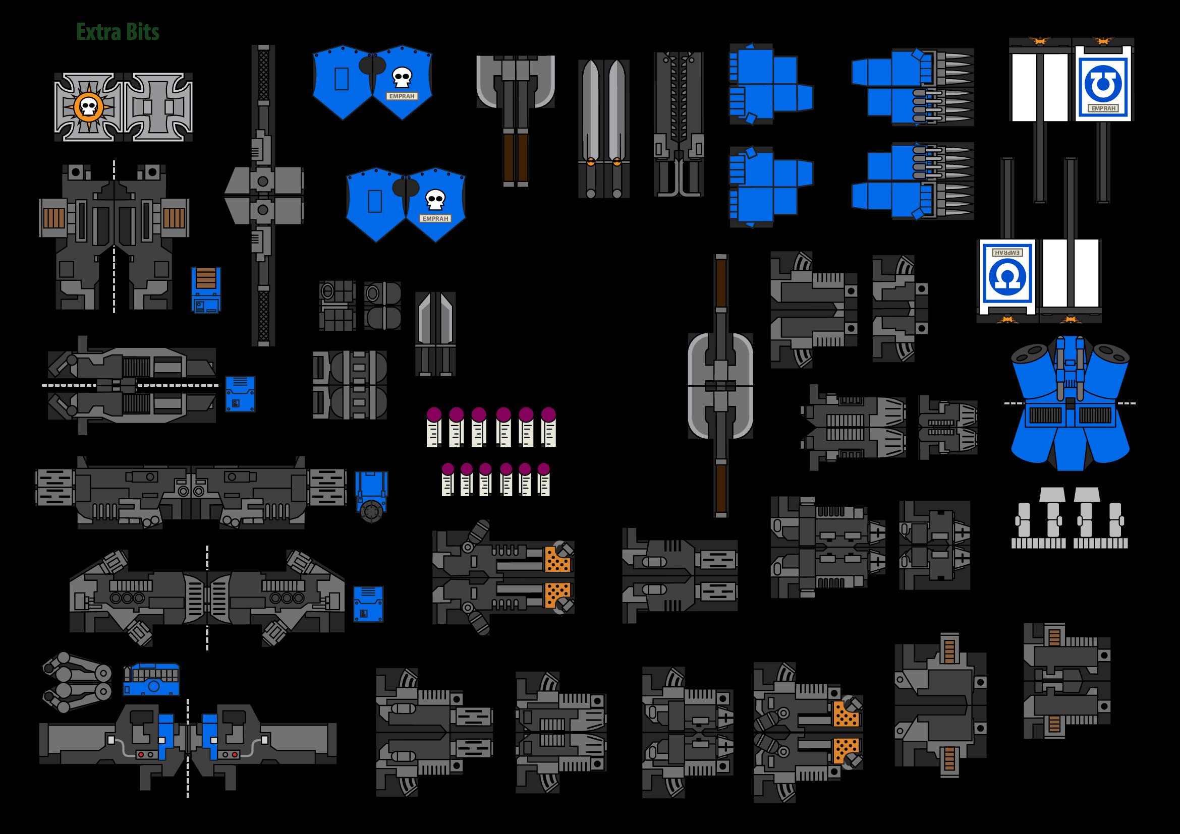 Papercraft Warhammer 40K Space Marine 9