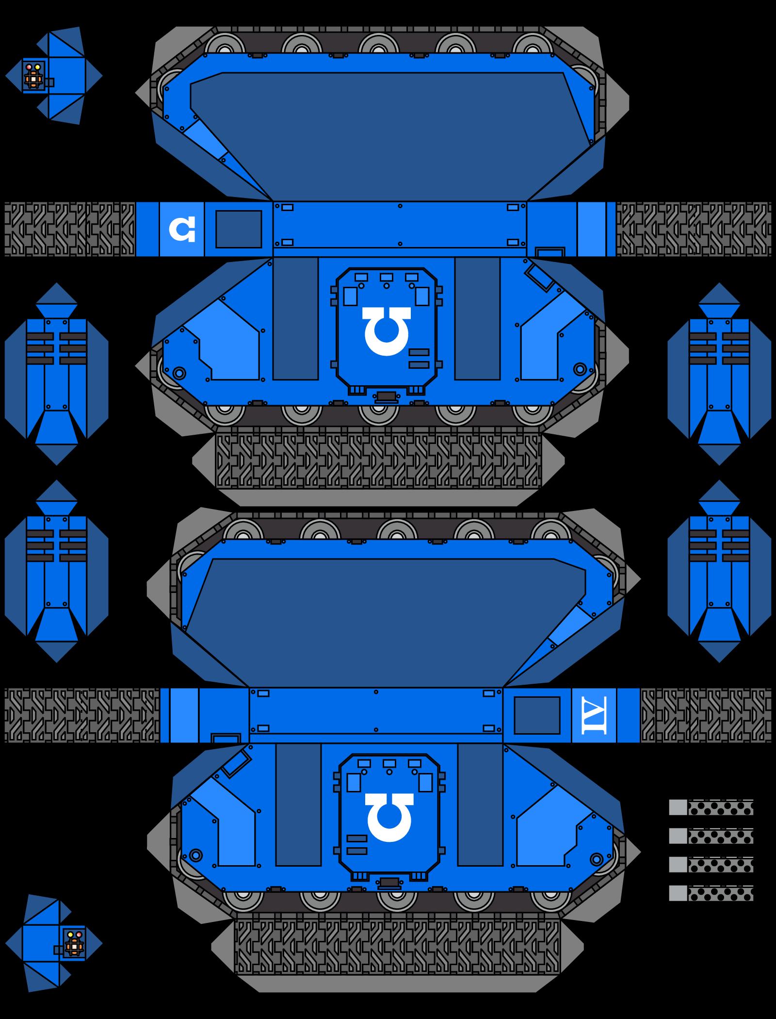 Warhammer 40K Papercraft Space Marine 1