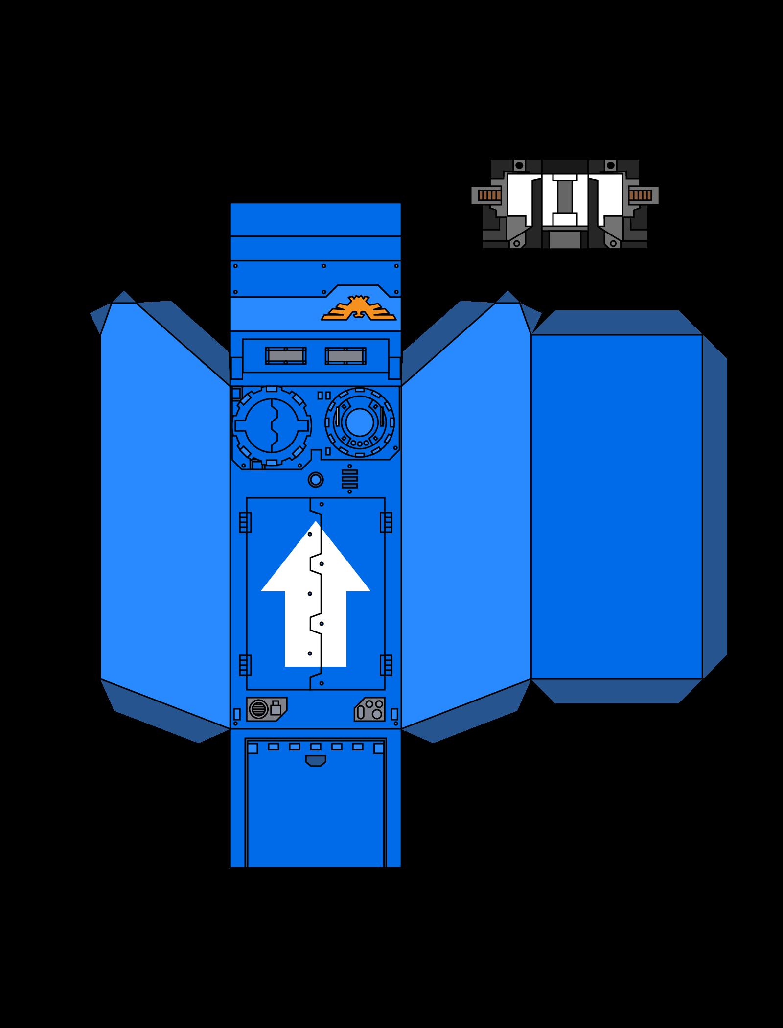 Warhammer 40K Papercraft Space Marine 2