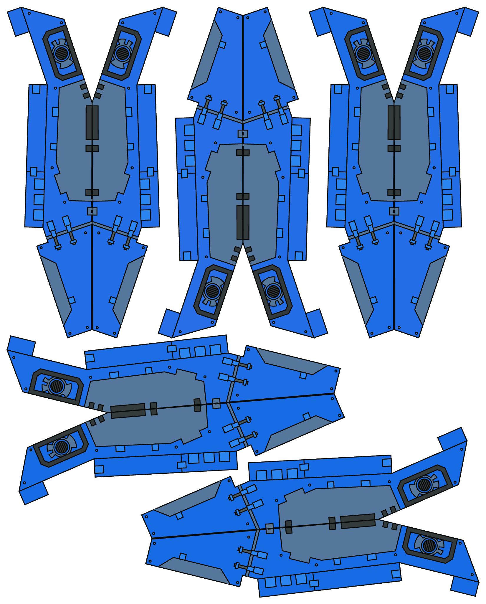 Warhammer 40K Papercraft Space Marine 3