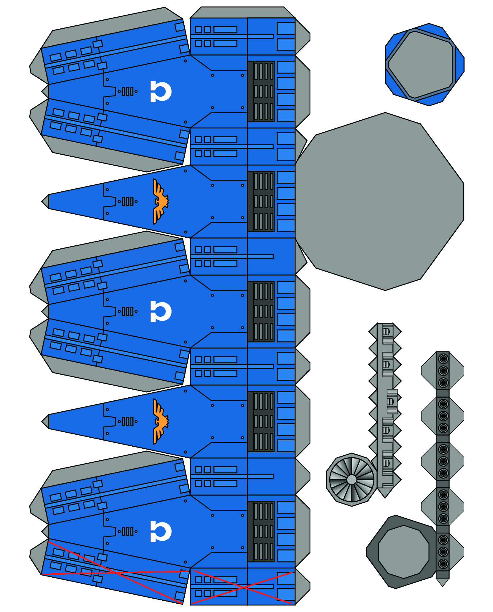 Warhammer 40K Papercraft Space Marine 4