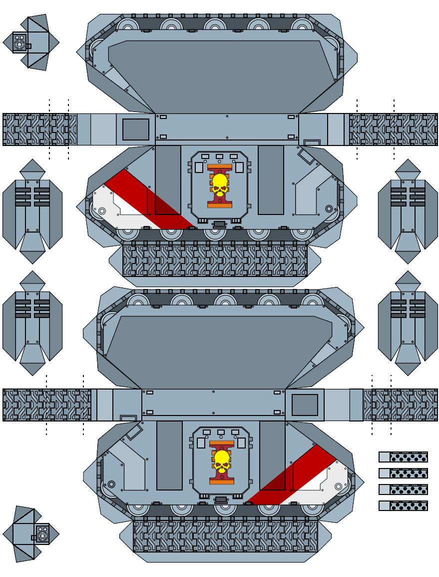 Warhammer 40K Space Marine Papercraft 1