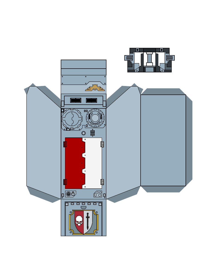 Warhammer 40K Space Marine Papercraft 2