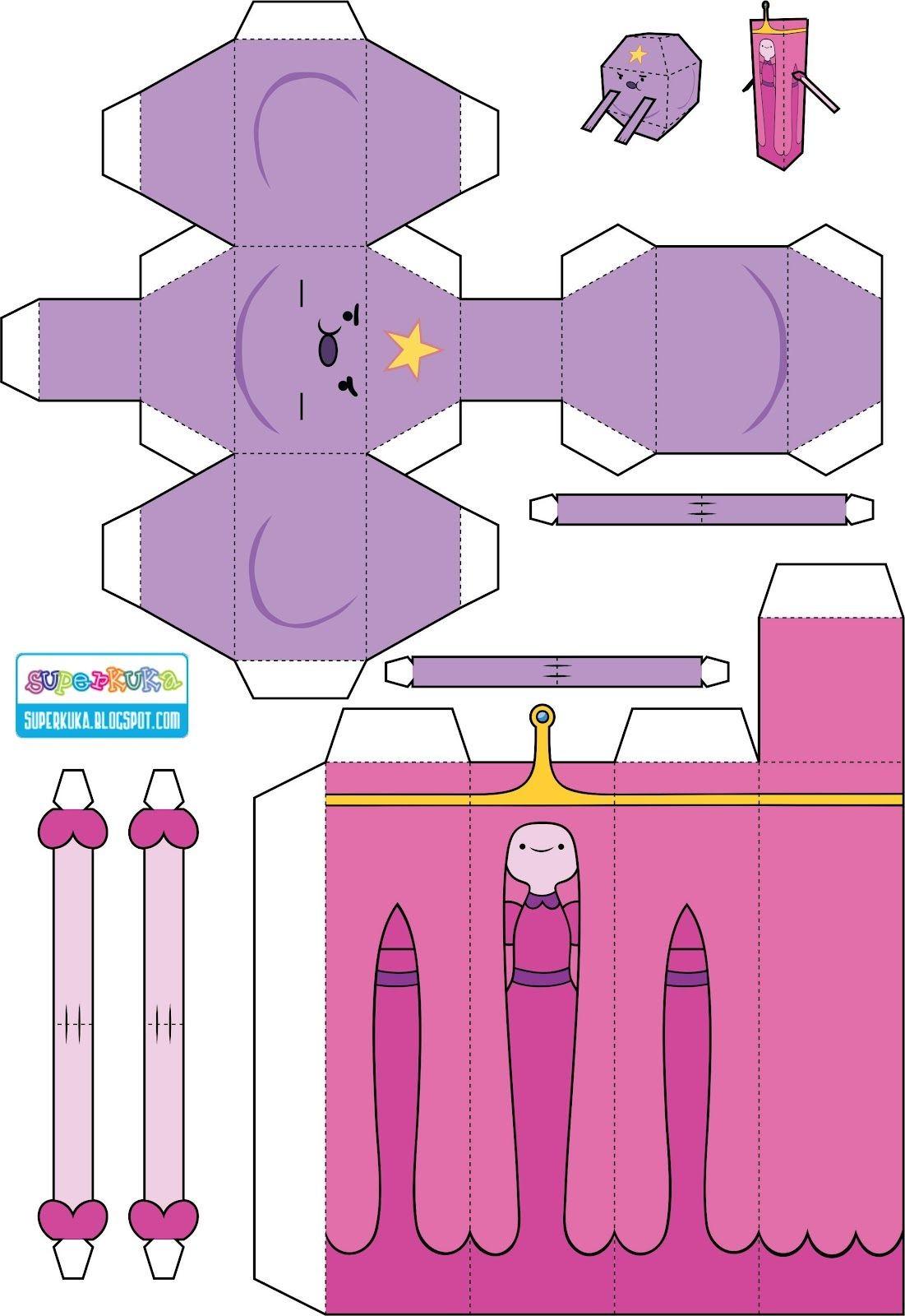 Adventure Time Papercraft Personagens Hora De Aventura Para Montar Pesquisa Google