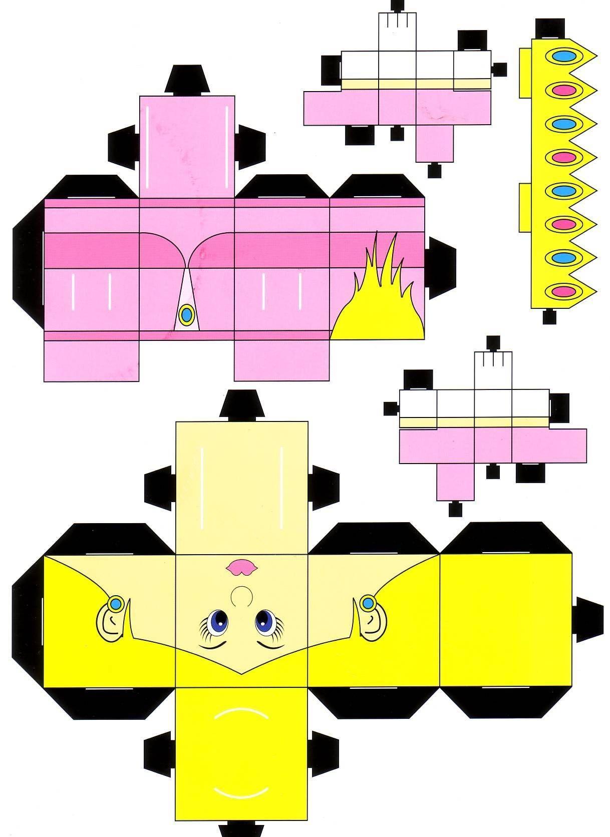Alien Papercraft Papercraft Mario Angry Birds Matt Groening[para Imprimir