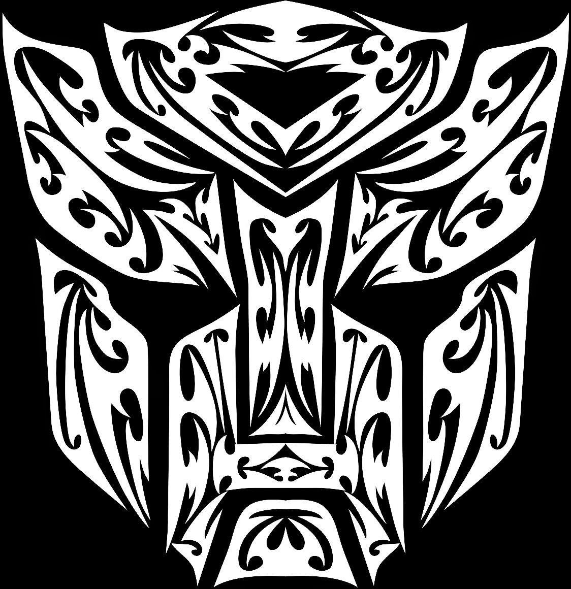 Amaterasu Papercraft Transformers Bumblebee Autobot Logo