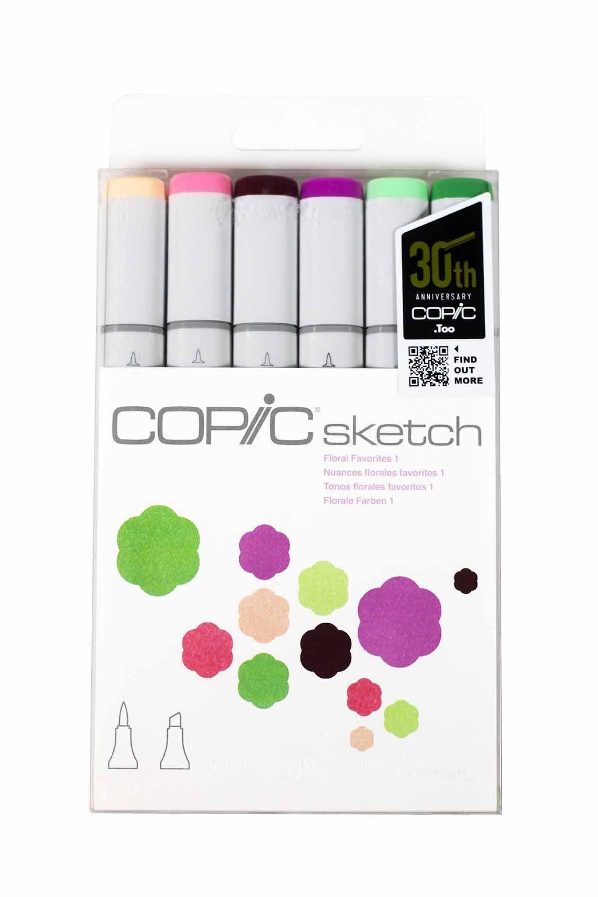 Amazon Papercraft Amazon Copic Markers Sketch Marker 6 Pkg Floral Favorites 1