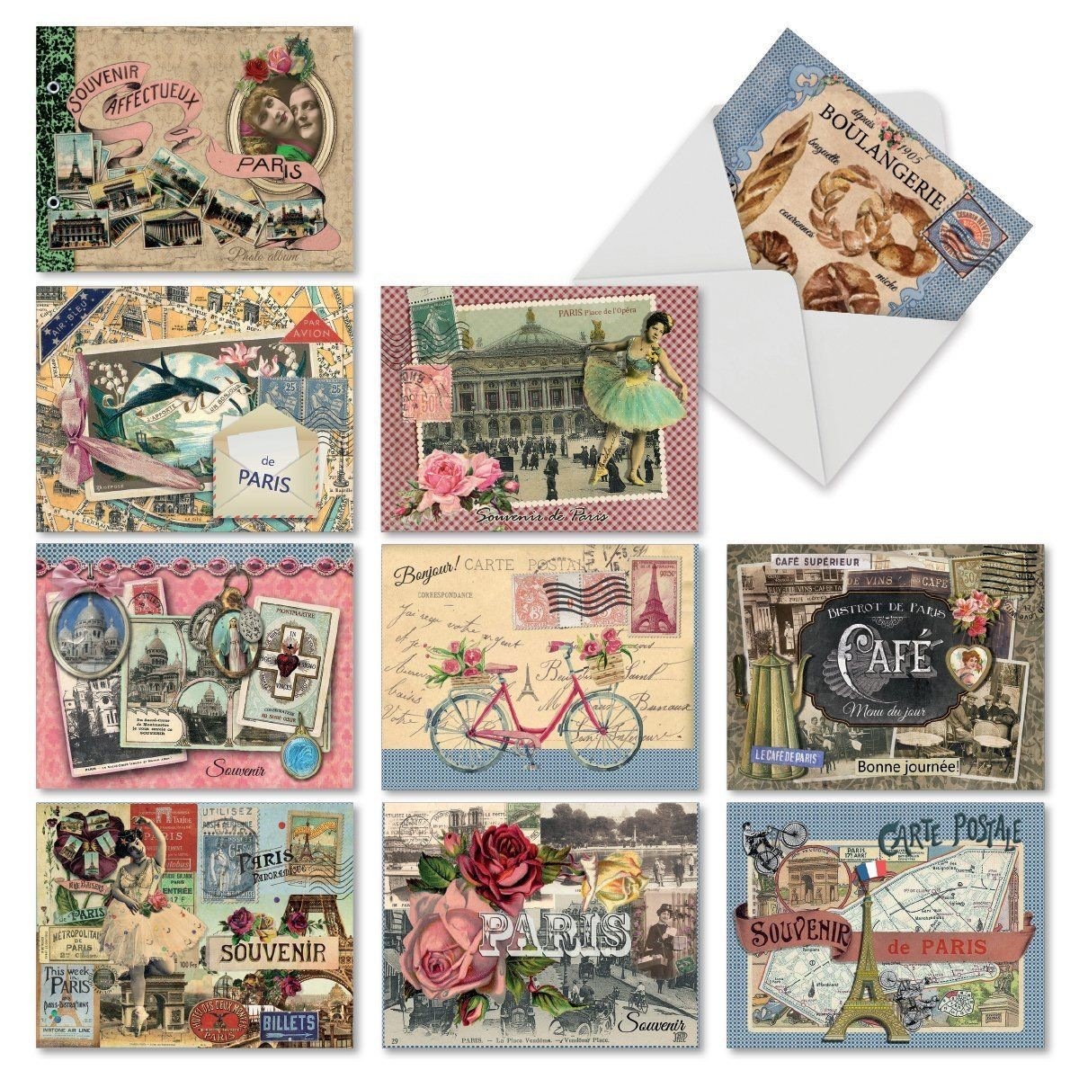 Amazon Papercraft Amazon M6624ocbsl Papiers De Paris 10 assorted Blank All