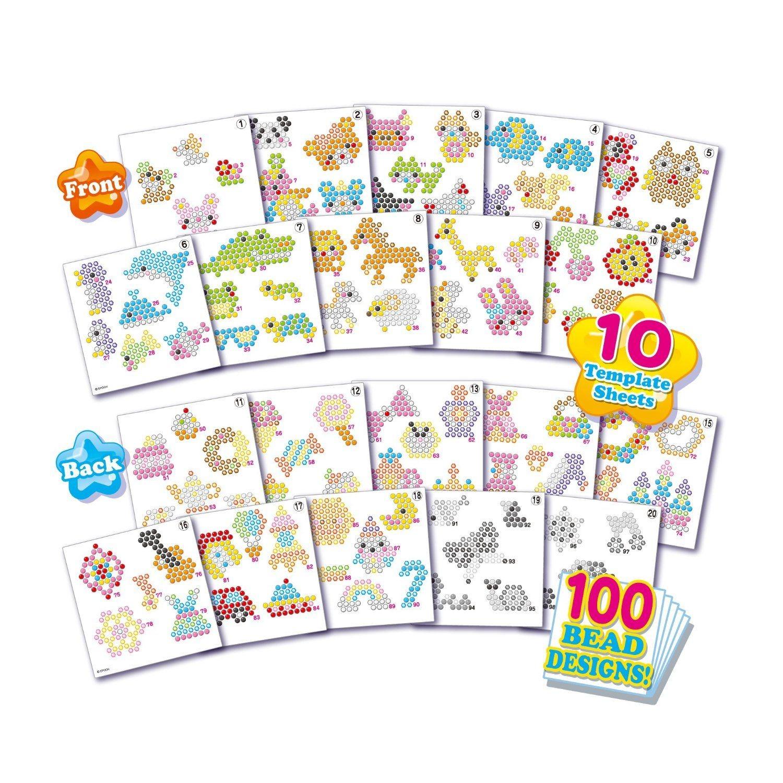 Amazon Papercraft Aquabeads Template Sheets Set Amazon toys & Games
