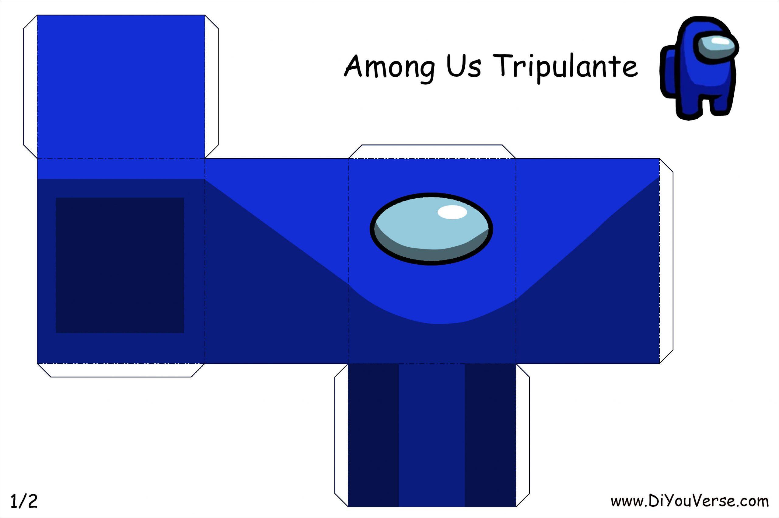 Among Us Papercraft Among Us Tripulante Azul 1 Papercraft