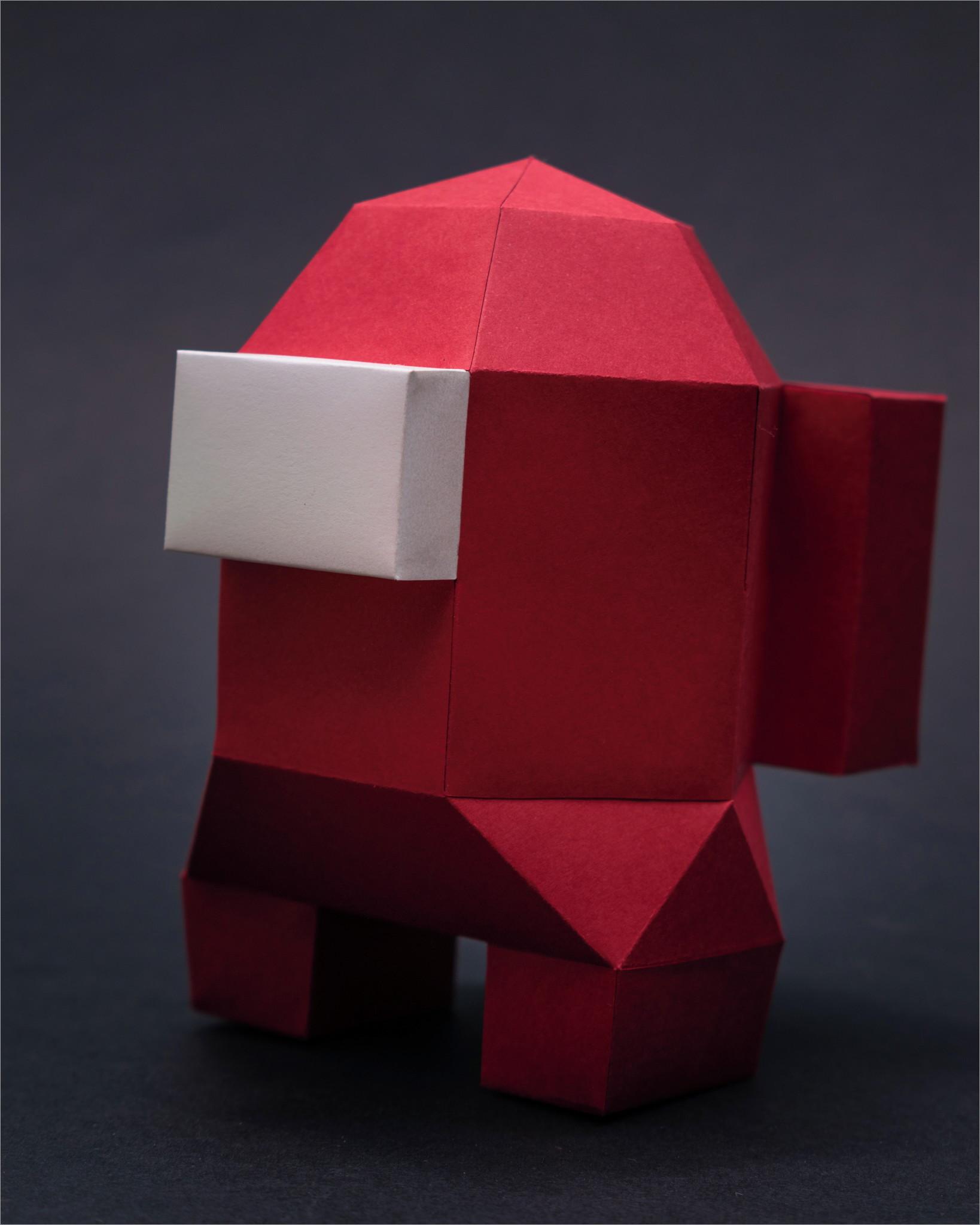 Among Us Papercraft Kit Among Us Papercraft