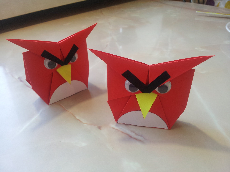Angry Birds Papercraft Оригами Angry Birds ЗРые птички из бумаги