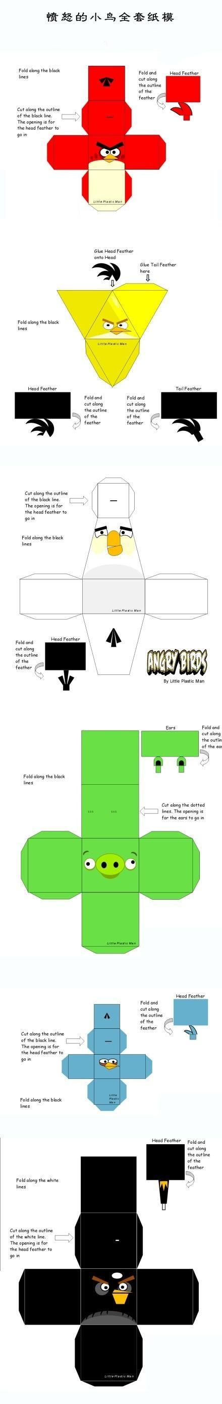 Angry Birds Papercraft Kit Festa Angry Birds Para Imprimir Grátis