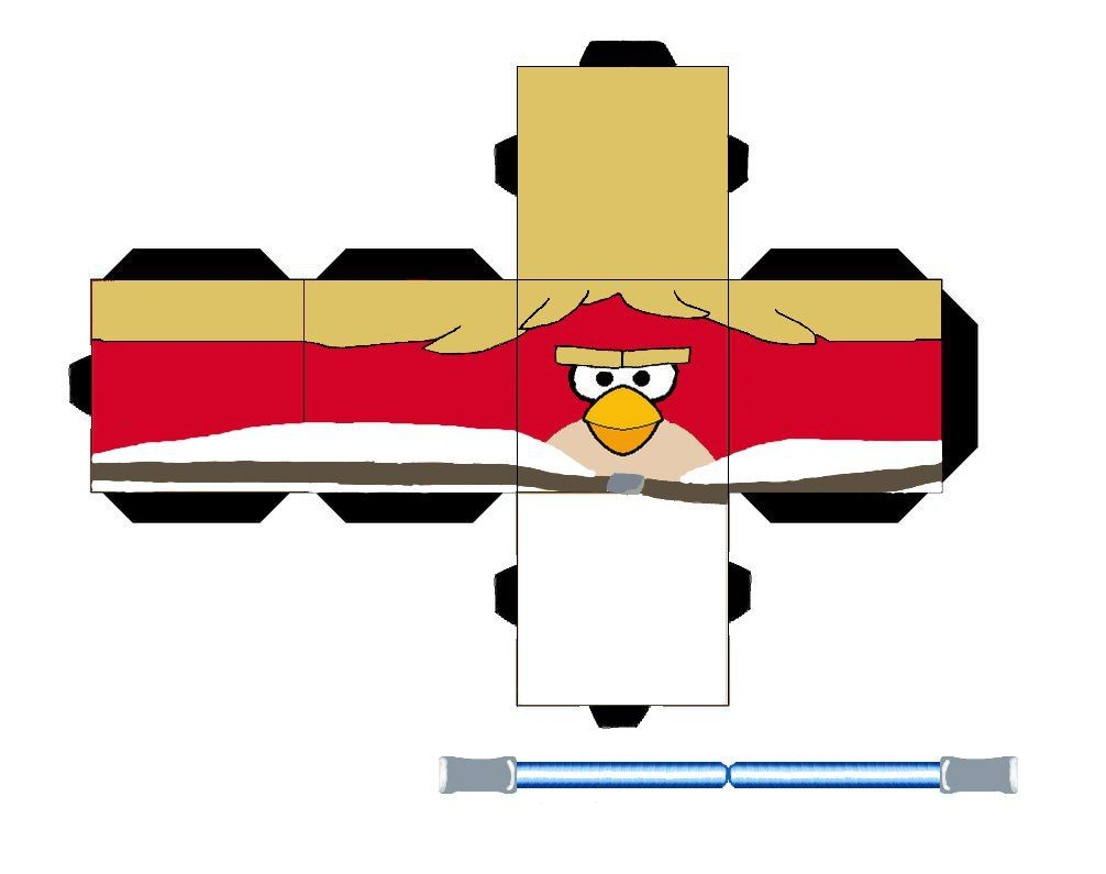 Angry Birds Papercraft Luke Angry Bird by Cyberlon by Cyberlon On Deviantart