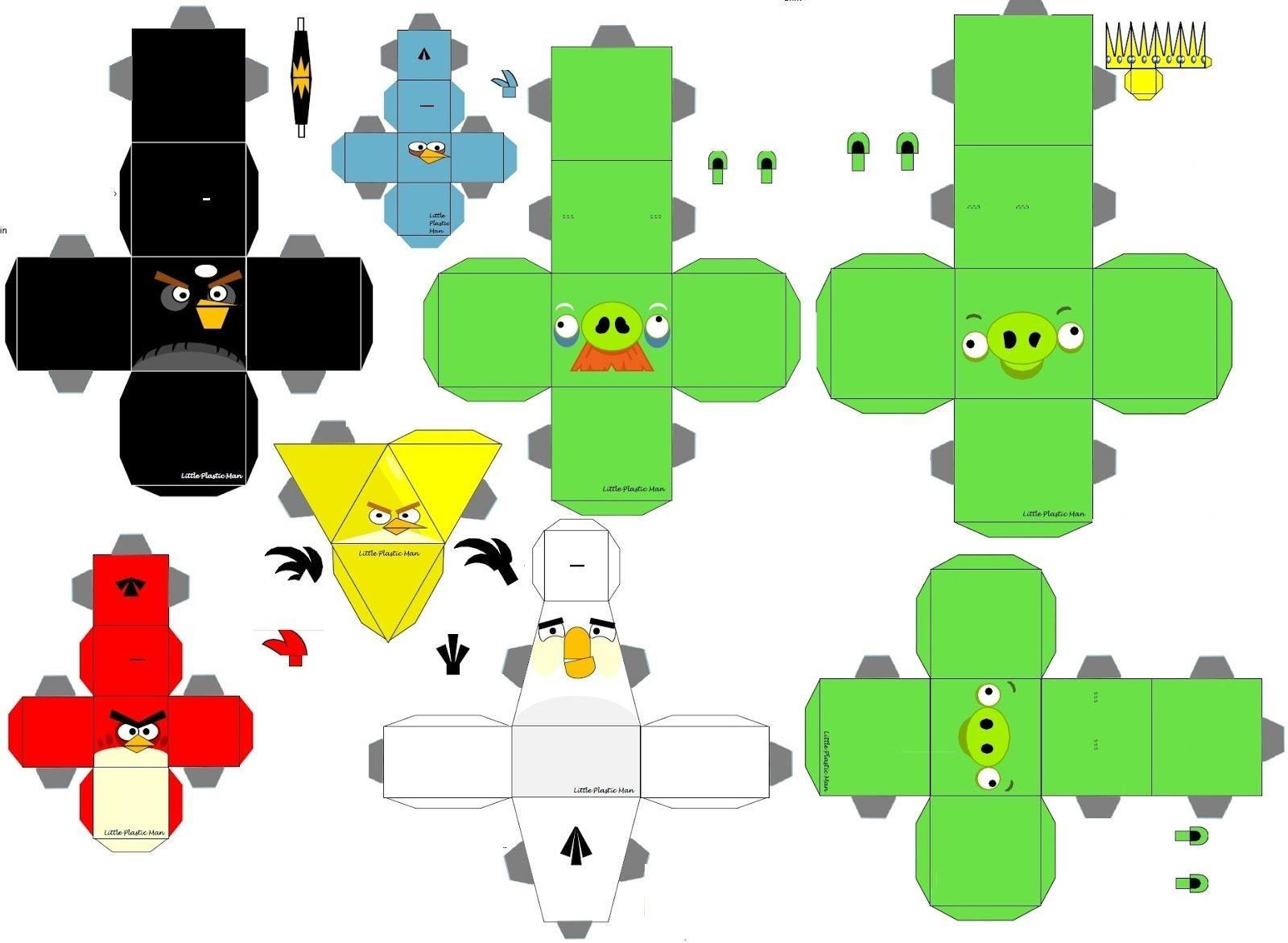 Angry Birds Papercraft Moldes Angry Birds Para Imprimir Pesquisa Google