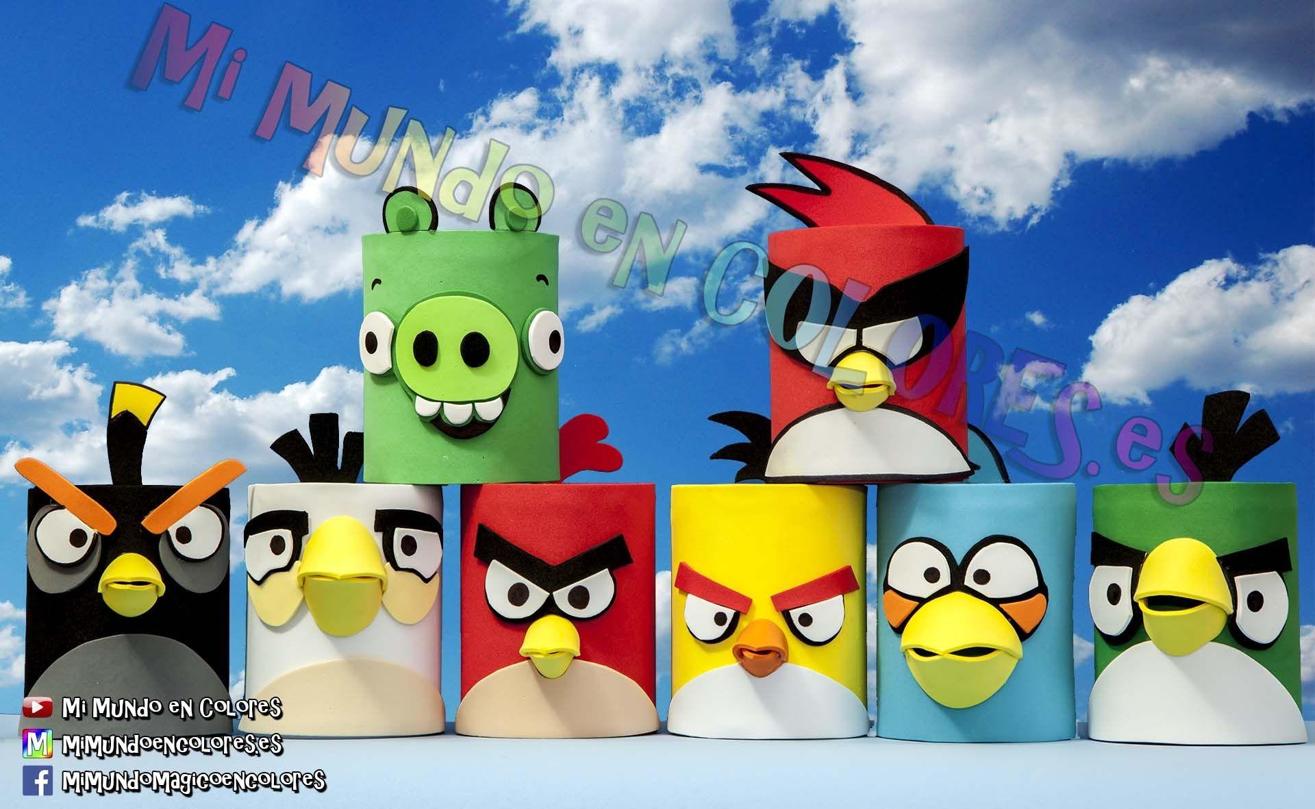 Angry Birds Papercraft Portalapices De Familia Angry Birds Mi Mundo En Colores
