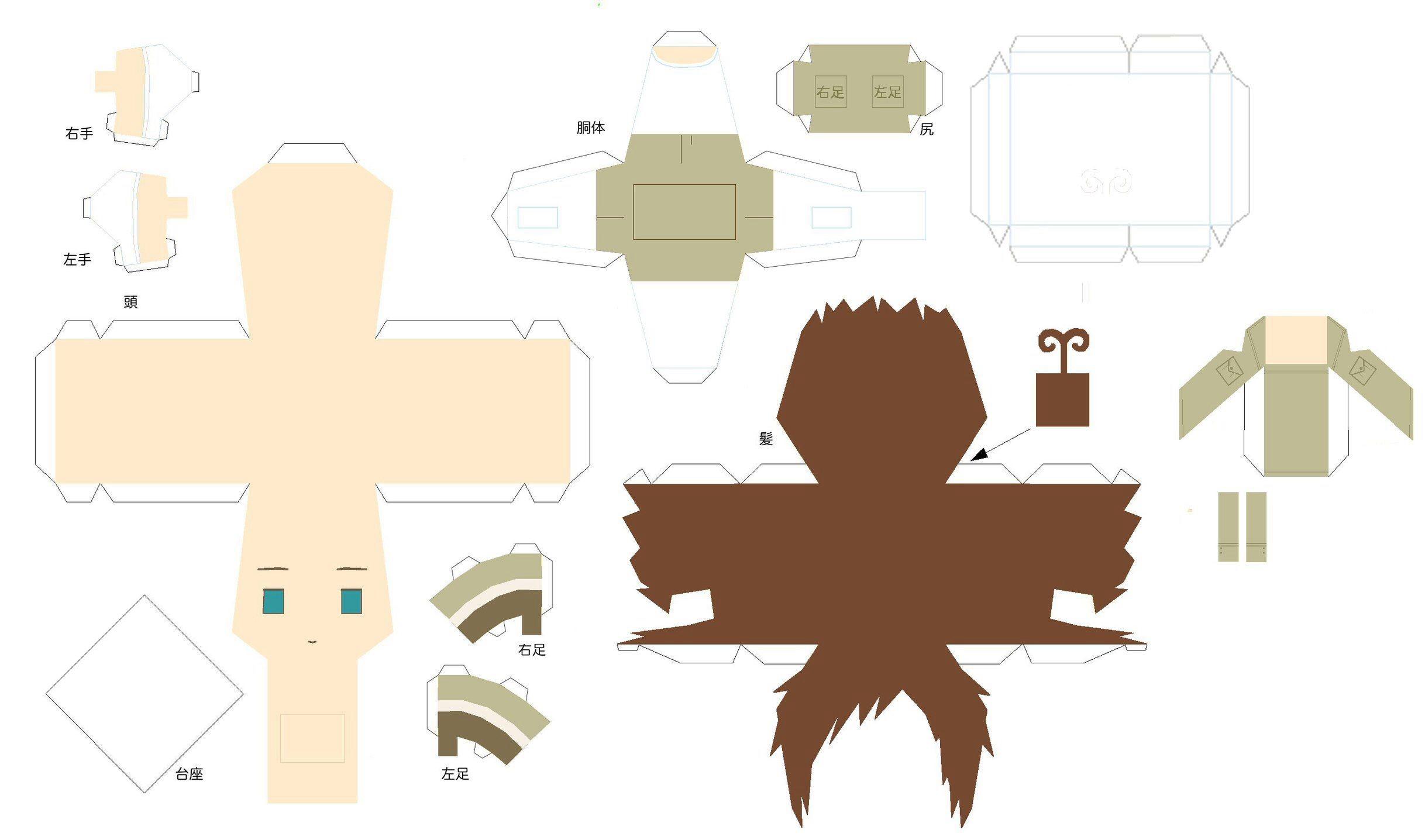 Anime Papercraft 圖片來源: