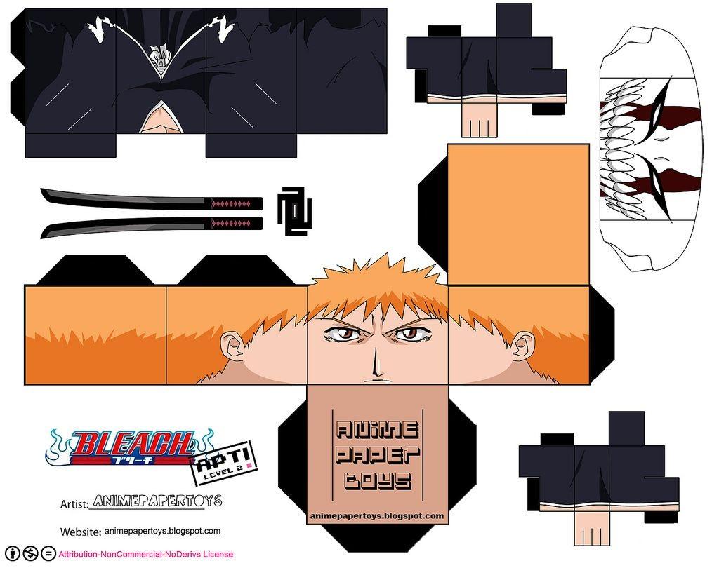 Anime Papercraft Pattern Más Tama±os Ichigo Kurosaki Bleach