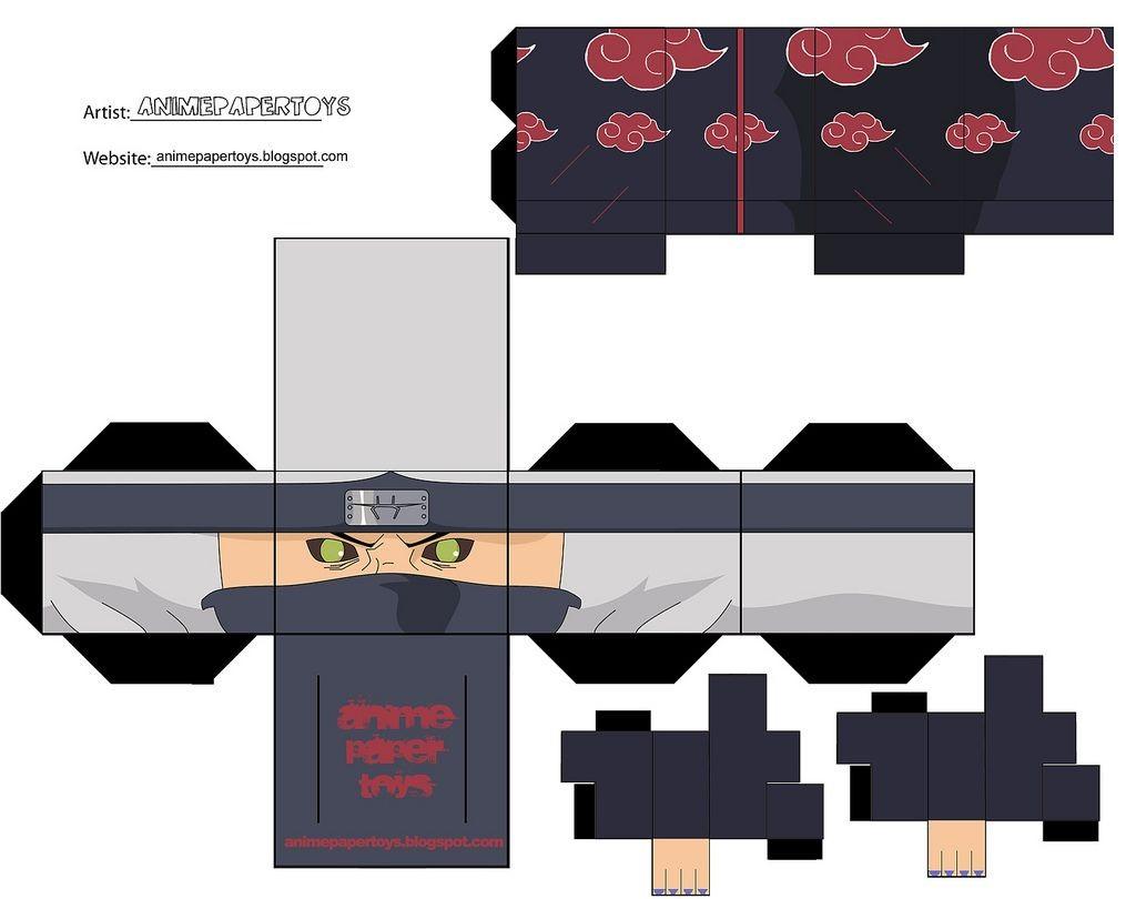 Anime Papercraft Pattern Mu±ecos Armables De Anime Figuras De Papel Armables