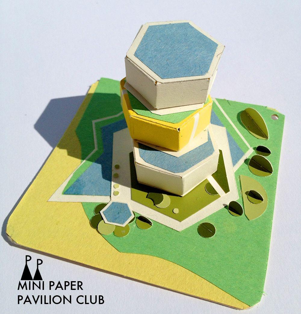 Architecture Papercraft Model Paper Architecture Pavilion Miniature Vancouver