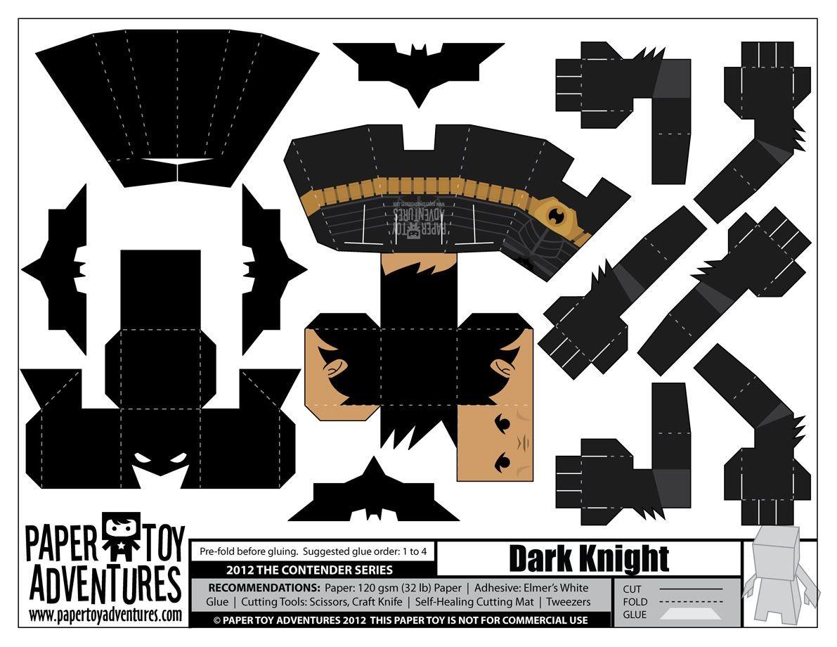 Batman Papercraft Eu Sei Eu Sei N£o Terminei De Postar Os Dos Vingadores Mas Fiquei