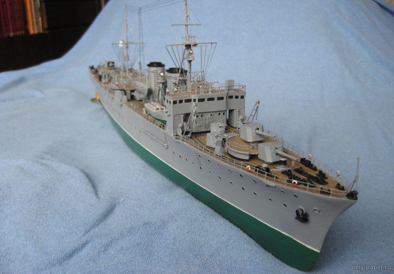 """Battleship Papercraft Минный заградитеРь """"Марти"""" Защитник БаРтики 1941 г Как сдеРать"""