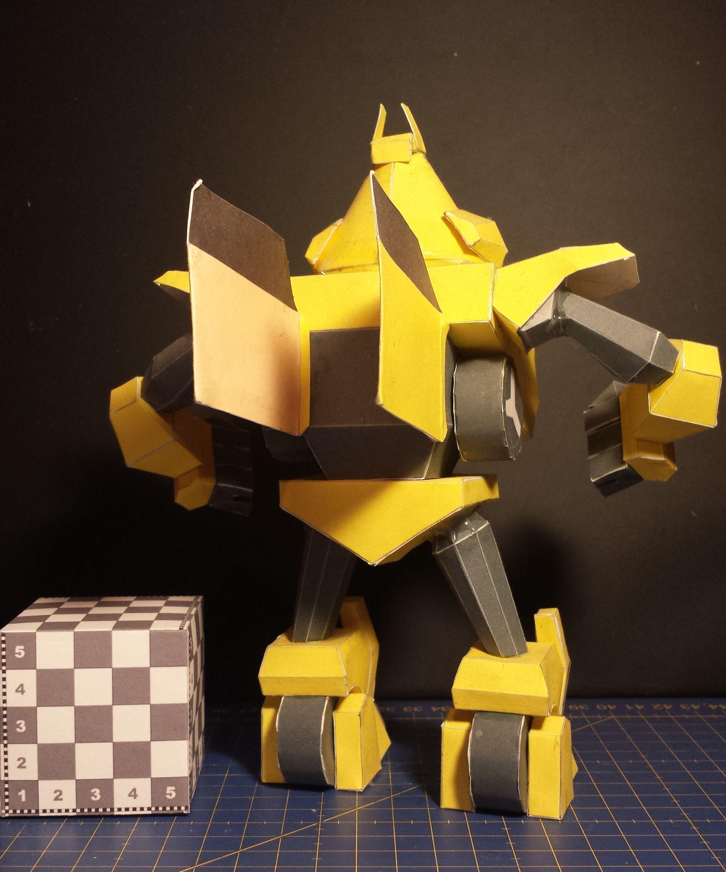 Bird Papercraft Angry Birds Transformers Yellow Bird Bumble Bee Disponible En