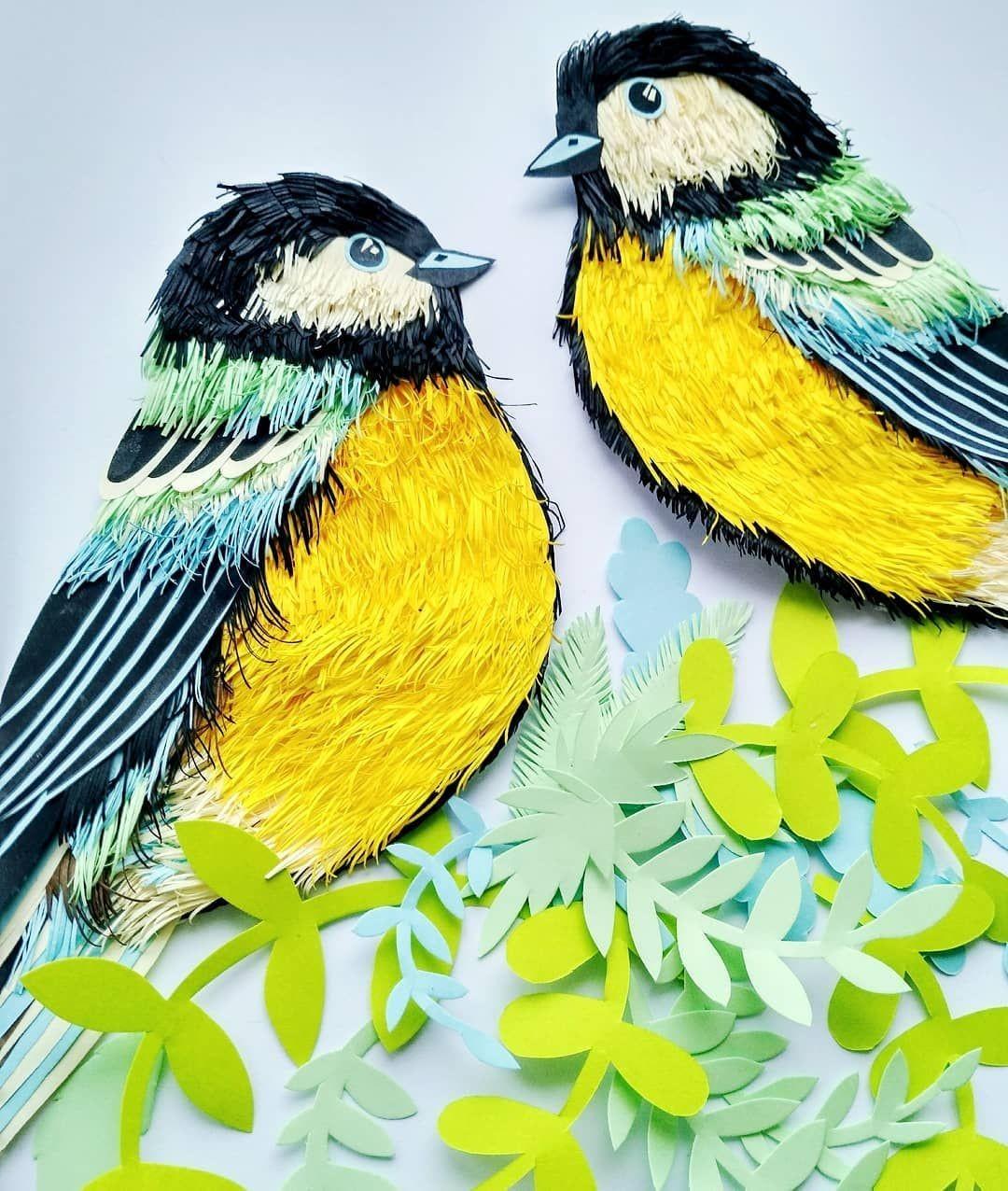 Bird Papercraft Art Artist Artsy Paper Paperart Papercraft Spring April
