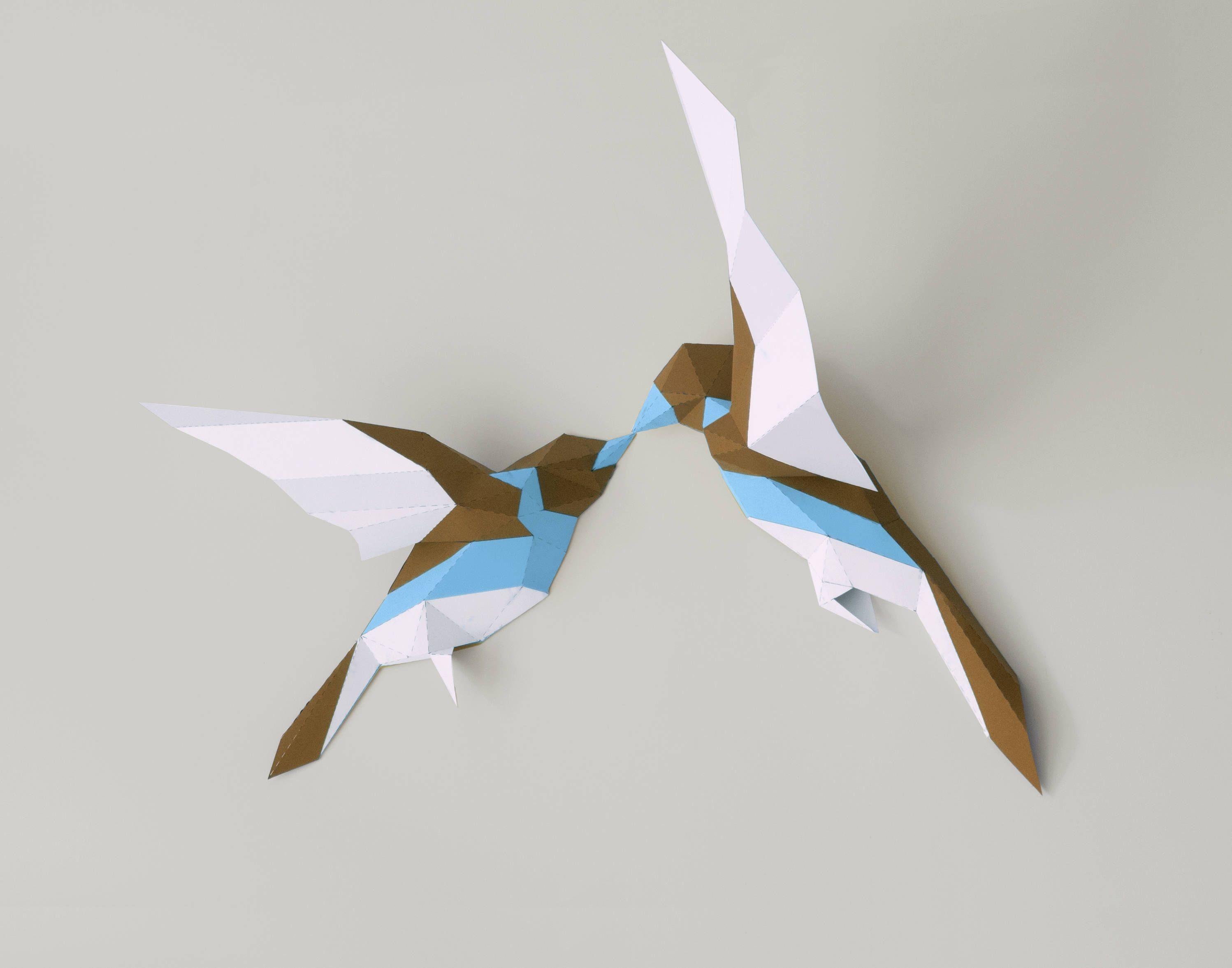 Bird Papercraft Birds Papercraftbirds Paper Artpaper Trophy3d Papercraft3d