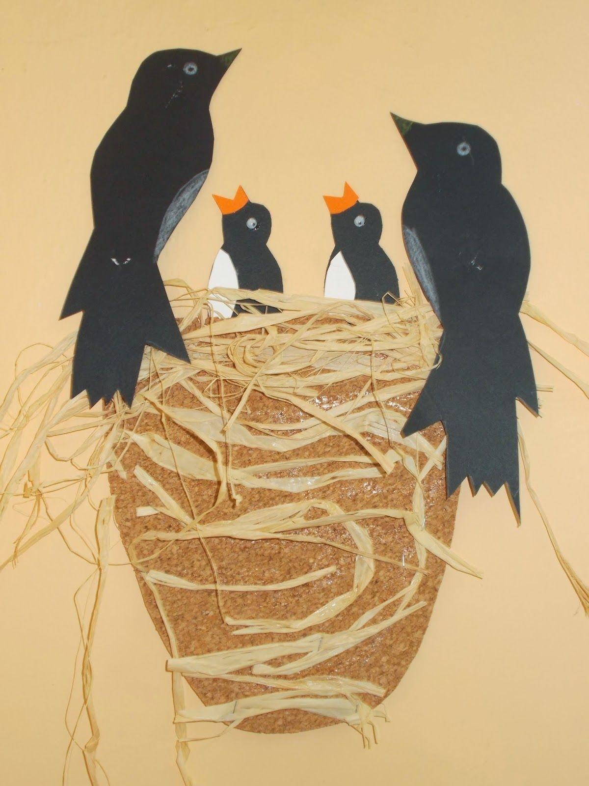 Bird Papercraft Cute Art Project Skapande4 Pinterest