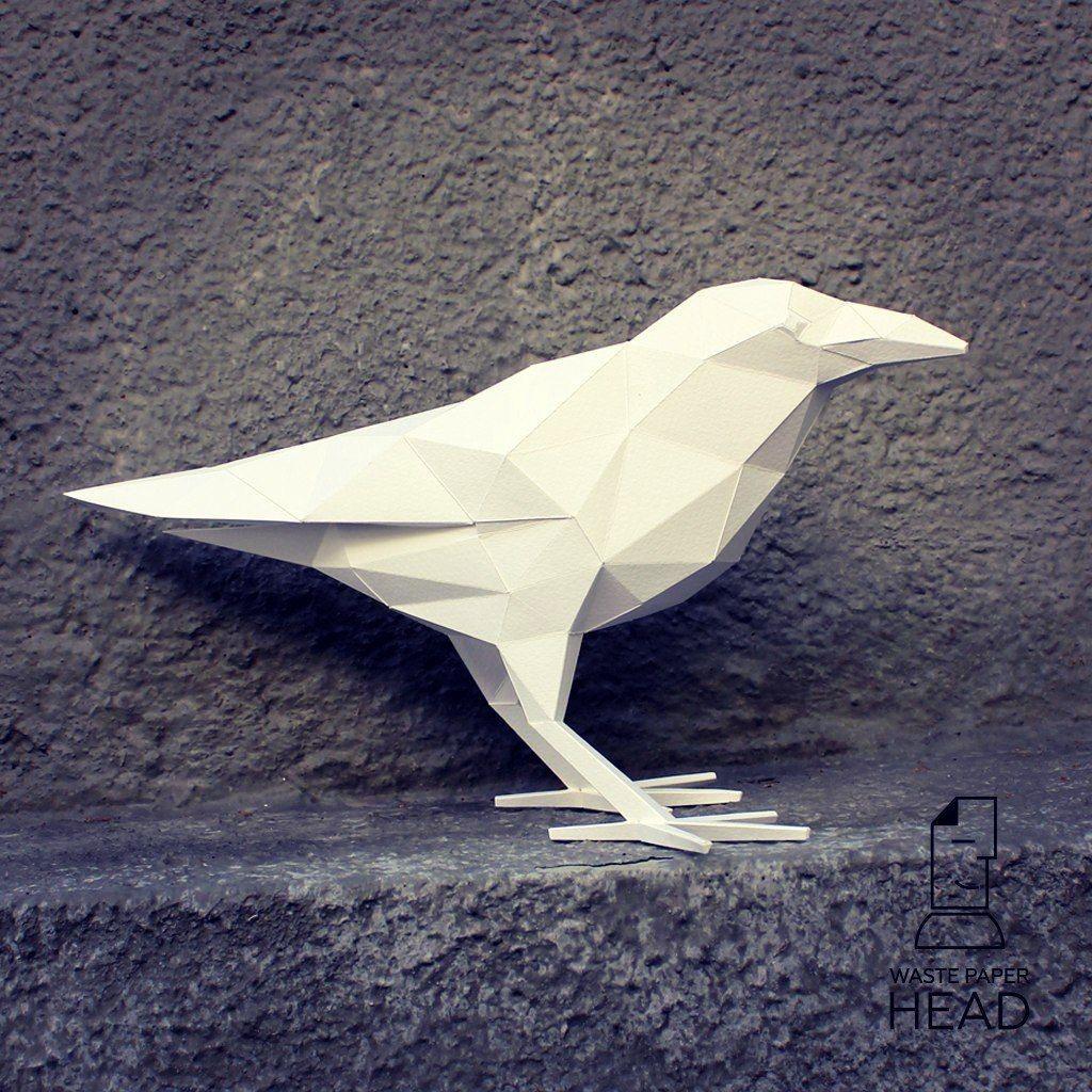 Bird Papercraft Wastepaperhead – 75 фотографий origami Pinterest