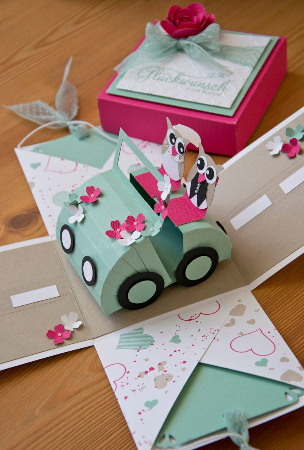 Birthday Cake Papercraft Hochzeits Explosionsbox Okulöncesi Etkinlik