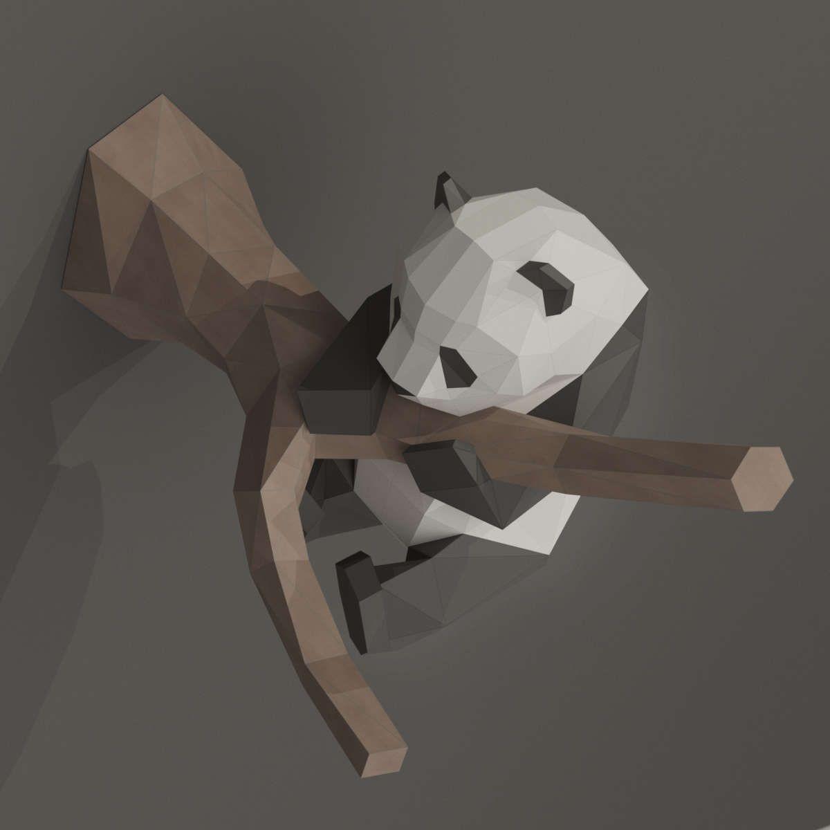 Black Rock Shooter Papercraft Diy Papercraft Panda 3d Papercraft Panda Panda Gift Diy Gift Kit