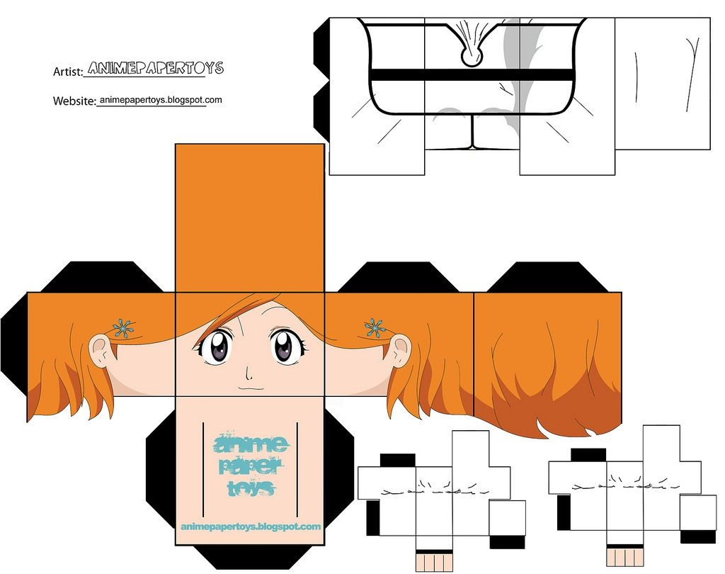 Bleach Papercraft Mu±ecos Armables De Anime Figuras De Papel Armables