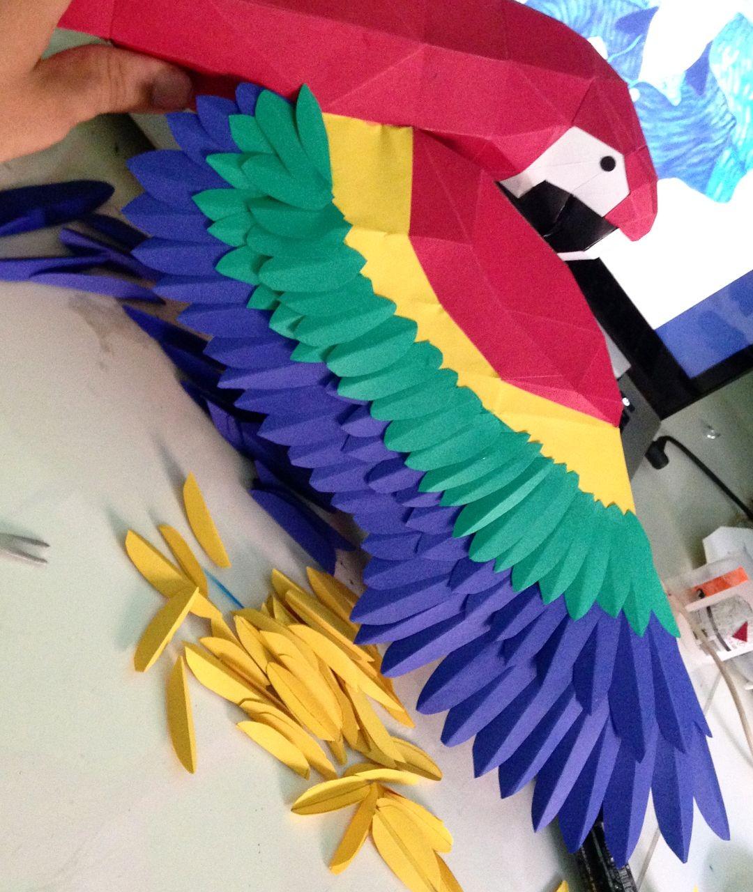 Blender Papercraft Processo De Montagem Da Araraºna Papercraft Lowpoly