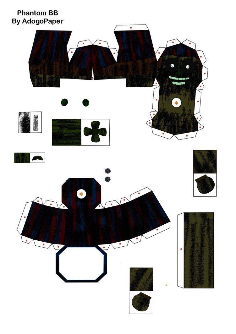 Boba Fett Papercraft Five Nights at Freddy S 3 Phantom Bb Papercraft P1 by Adogopaper
