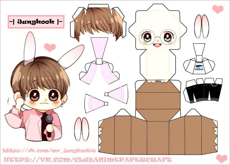 Bts Papercraft Bts Jeon Jungkook Papercraft Chibi by Mrjungkookie