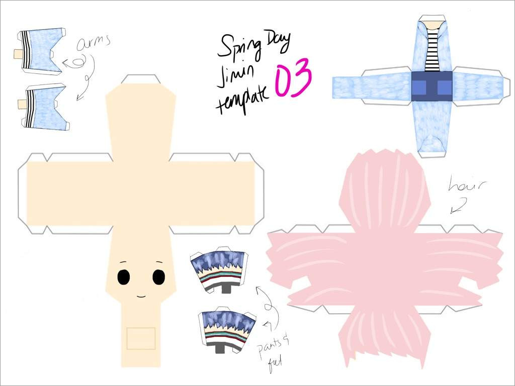 Bts Papercraft Chibi Bts Spring Day Jimin Papercraft