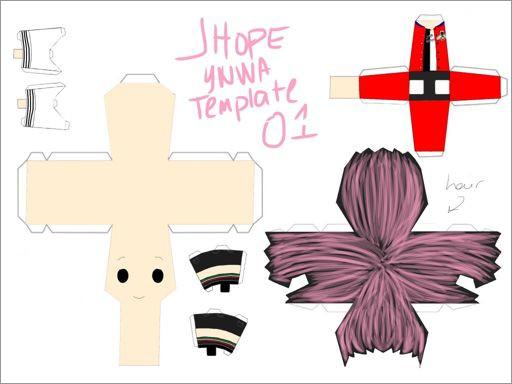 Bts Papercraft Chibi Bts Ynwa J Hope Papercraft