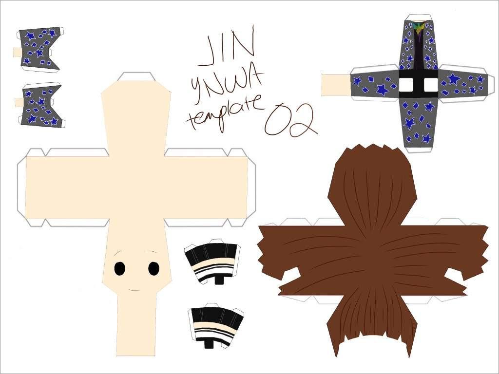 Bts Papercraft Chibi Bts Ynwa Jin Papercraft