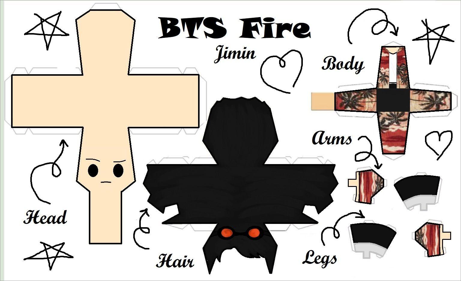 Bts Papercraft Jimin Fire Bts Papercraft