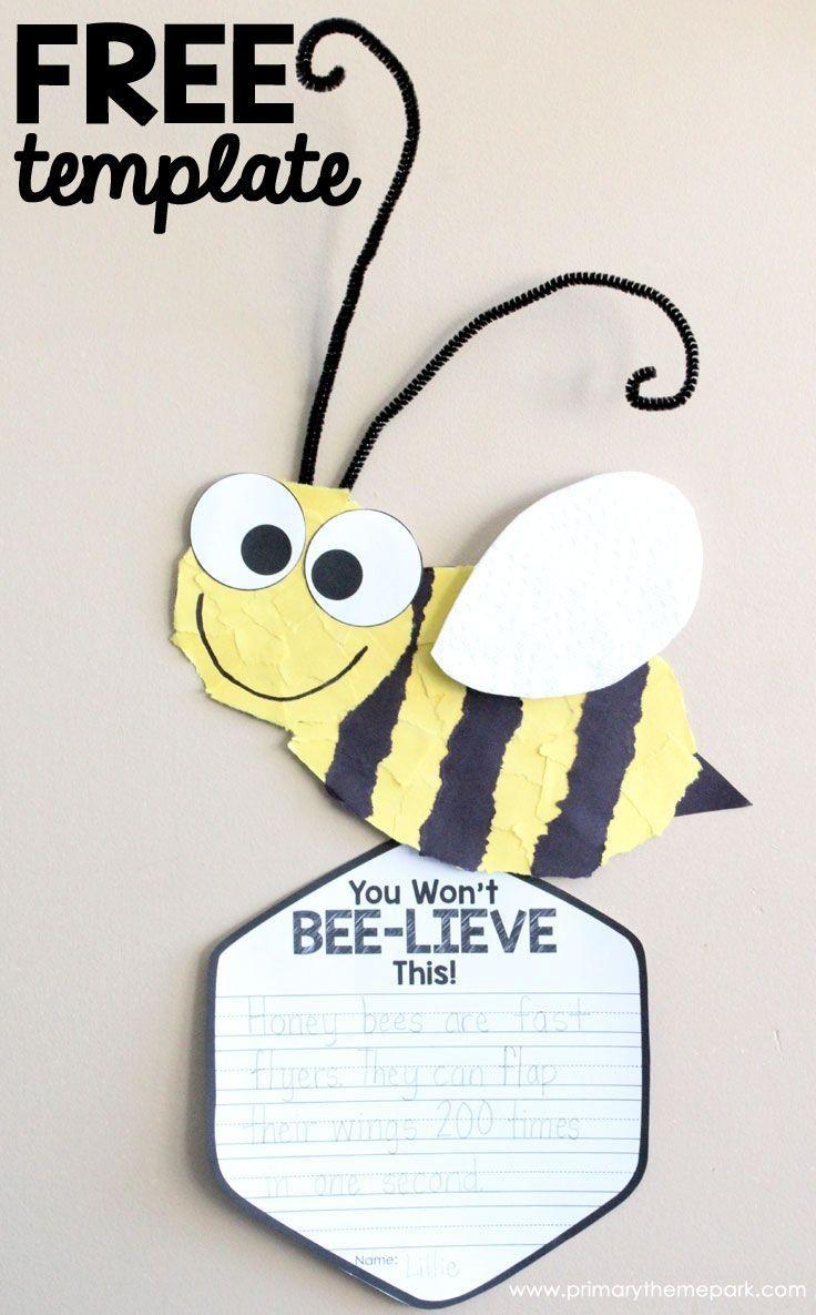 Bumblebee Papercraft Bee Craft Template