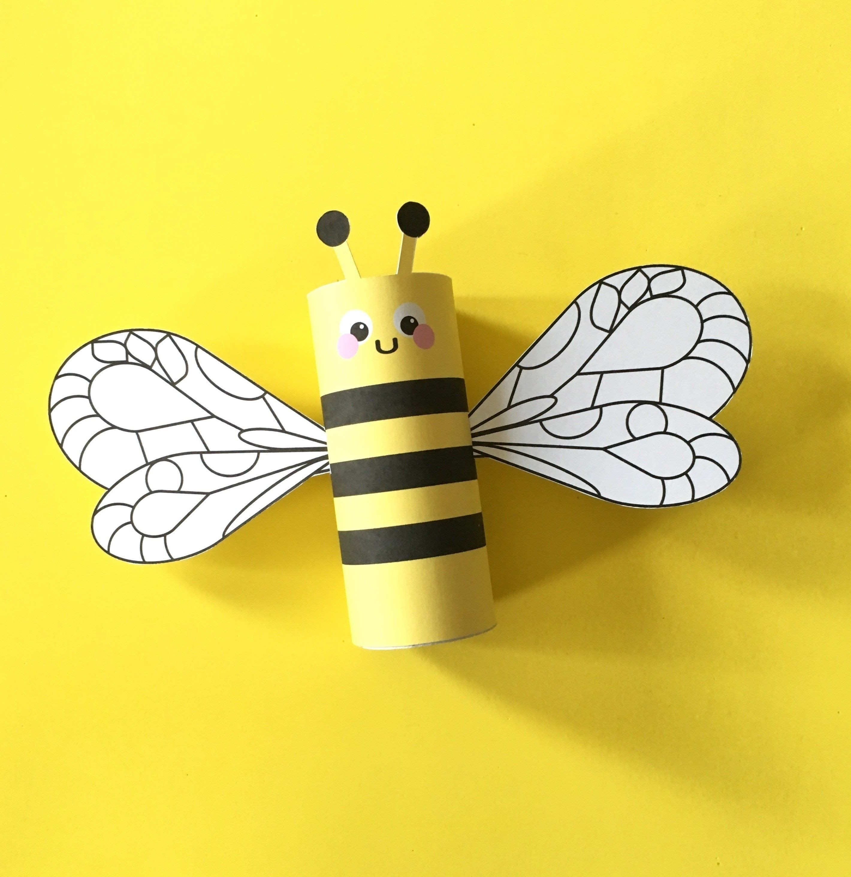 Bumblebee Papercraft Bumblebee toilet Tube Craft Printable Printables