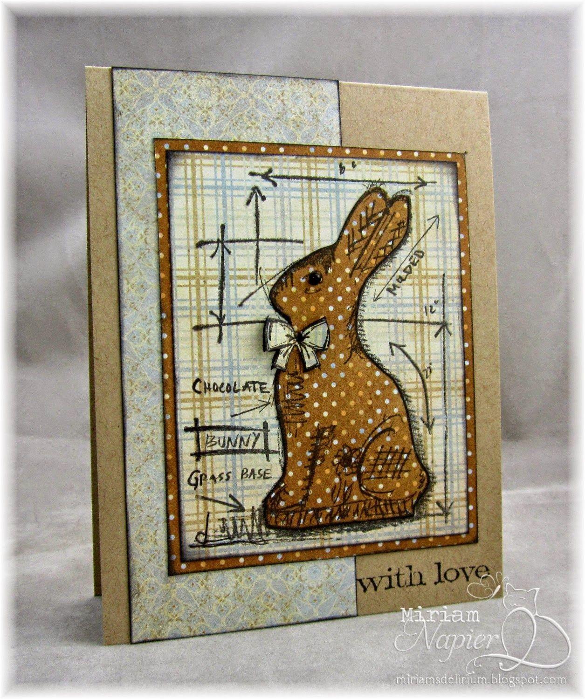 Bunny Papercraft Miriam S Delirium Blueprint Bunny Boy S Cards
